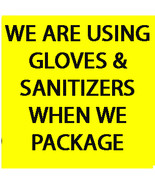 AT CASSIA4 WE'RE USING GLOVES & SANITIZER WHILE PACKAGING FOR YOUR PEACE... - $0.00