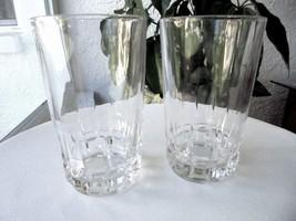 "Set of 2 Atlantis Lisbon Clear Crystal Highball Glasses 5 3/8"" Tall - $20.79"