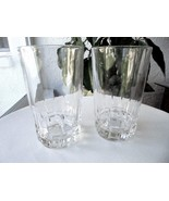 "Set of 2 Atlantis Lisbon Clear Crystal Highball Glasses 5 3/8"" Tall - $20.79"