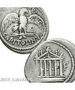 MARC ANTONY Cleopatra 43 BC Temple Jupiter Ancient Roman Republic Denari... - $386.10