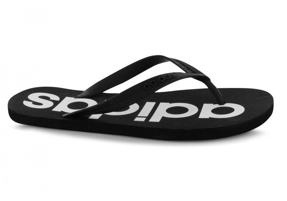 best service 9667b 4a331 ... Adidas Mens Flip Flops Slippers Thong Flipper - AW4535 - Black ...