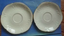 Old Porcelain Rosenthal Selb Germany Sanssouci 2psc. Saucer White Gold trim 1929 - $39.60