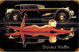 Double Vision / Pin Up Cut Metal Sign Greg Hildebrandt - $29.95