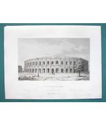 ARCHITECTURE (3) PRINTS 1850 - FRANCE  Roman Amphitheater at Nimes - $26.96