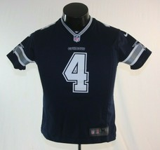 Nike NFL On Field Dallas Cowboys Dak Prescott #4 Jersey Youth Medium Blue - $26.68