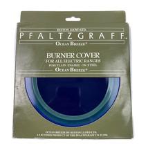 """vintage Pfaltzgraff Ocean Breeze Electric Stove Burner Cover Porcelain Enamel 8"""" - $14.25"""