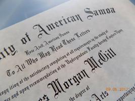 Better Call Saul  - ( James Morgan McGill ) American Samoa Diploma - B3G1F - $14.99