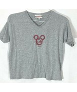 Disneyland Ladies Mickey Mouse shape from a red dragon V-neck top T-shir... - $24.99