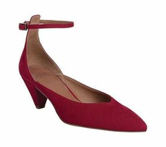 Women's Sarto by Franco Sarto Coralie Ankle Strap Cherry Kid Suede Leather Size - $116.33