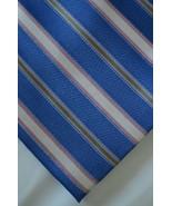 Blue Green Salmon White Striped Silk Neck Tie RoundTree & Yorke Easy Car... - $19.79