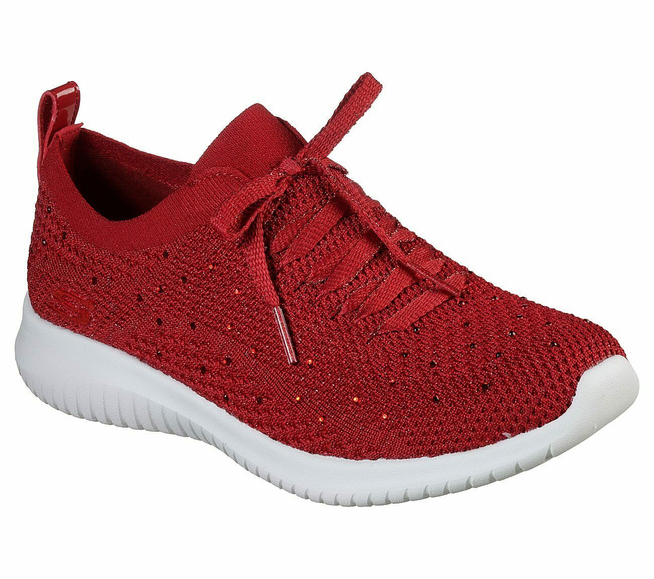 Primary image for Skechers Red Shoes Memory Foam Women Slip On Comfort Casual Sporty Walking 13099