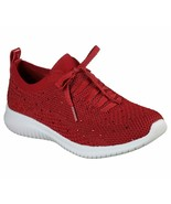 Skechers Red Shoes Memory Foam Women Slip On Comfort Casual Sporty Walki... - $49.79+