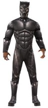 Black Panther Costume Men Deluxe Jumpsuit Movie Halloween RU820992 - $69.99