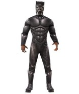 Black Panther Costume Men Deluxe Jumpsuit Movie Halloween RU820992 - $69.99