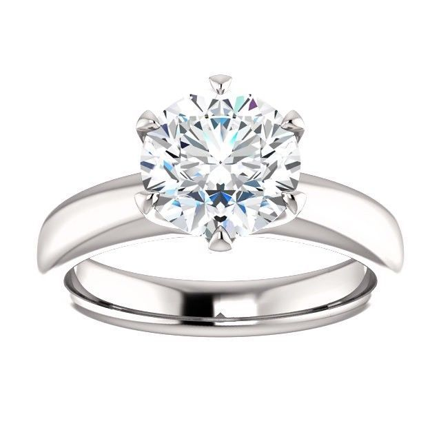 2.00 Carat Ideal Cut Round Brilliant Diamond Solitaire Ring in 14k Gold