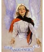 "Nursing, Angel of Mercy, WWI era nurse poster, 8x10"" Premium poster Print.   Fre - £9.08 GBP"