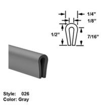 "MDS-Filled Nylon Plastic U-Channel Push-On Trim, Ht. 1/2"" x Wd. 1/4"" - 10 ft - $72.67"