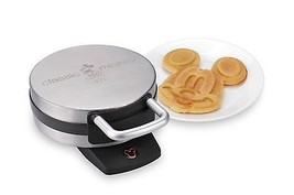Disney DCM-1 Classic Mickey Waffle Maker, Brushed Stainless Steel, New - €47,96 EUR