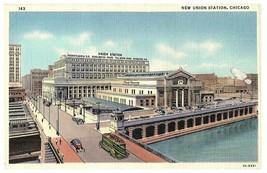 Neuf Union Station Chicago Il Chemin de Fer Curt Teich Lin Carte Postale 1941 - $26.03