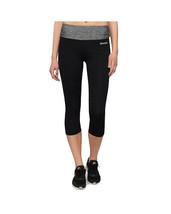 Bench Womens Black with Heather Gray Rajak Capri Yoga Fitness Pants BLNF0049