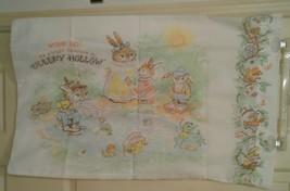 Vintage Bibb Co Sleepy Hollow Pillowcase Rip Van Rabbit Bunky Bears Enol... - $12.19
