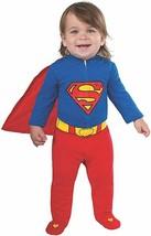 Rubies Bebé Superman Superhéroe Cómic Mono Disfraz Halloween 887601 - $27.39