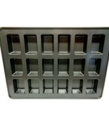 """New XL  Metal  Bread Loaf Baking Pan Measuring 21 """" By 15"""" With 18 Cavity - $19.99"""