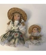 """Vintage  Doll Porcelain 4"""" And 2"""" - $9.50"""
