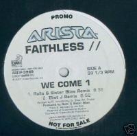 """Faithless  (12"""" Vinyl) We Come 1 (4 Remixes)"""