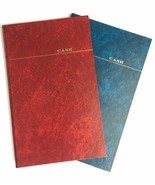 2 VTG 1980s 1990s Vernon McMillan Blue Red Cash Accounting HC Book Journ... - $59.99