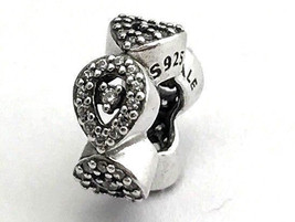 Authentic Pandora Cascading Glamour Spacer Clear CZ Charm, 796270CZ, New - $28.49