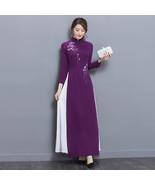 pf203 Sexy elegant spell color long dress w flower printed,Size m-2xl, v... - $18.80+