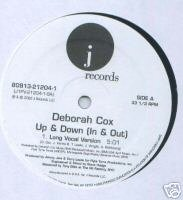 "Deborah Cox (12"" Vinyl) Up & Down (In & Out) 3 Traxx"