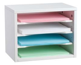 Adiroffice White Wood Desk Organizer Workspace Organizer - $49.94