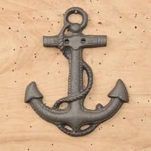 Large Cast Iron Boat Anchor Nautical Wall Decor No finish - $7.91