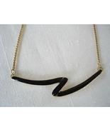 Z Goldtone Enameled Pendant Necklace, Chain - $6.99