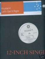 "Krystal K (12"" Vinyl) Let's Get it Right (4 Remixes)"