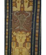 Handspun Handwoven Sumba Hinggi Songket Ikat Pi... - $138.59