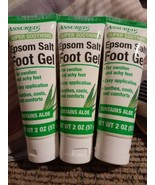 3x Assured Super Soothing Epsom Salt Foot Gel 2 oz ea. Swollen Achy Feet... - $19.79