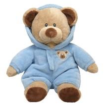 "Pyoopeo Ty Pluffies Baby Bear Blue 11"" 27cm Plush Medium Soft Stuffed An... - $19.20"