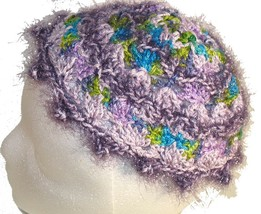 Lavender and multicolor Crochet Beanie Hat - €10,41 EUR