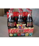 Coca Cola Memorabilia 6pk Glass Bottles, 2002 Superbowl 36, Full 8 oz, W... - $24.99