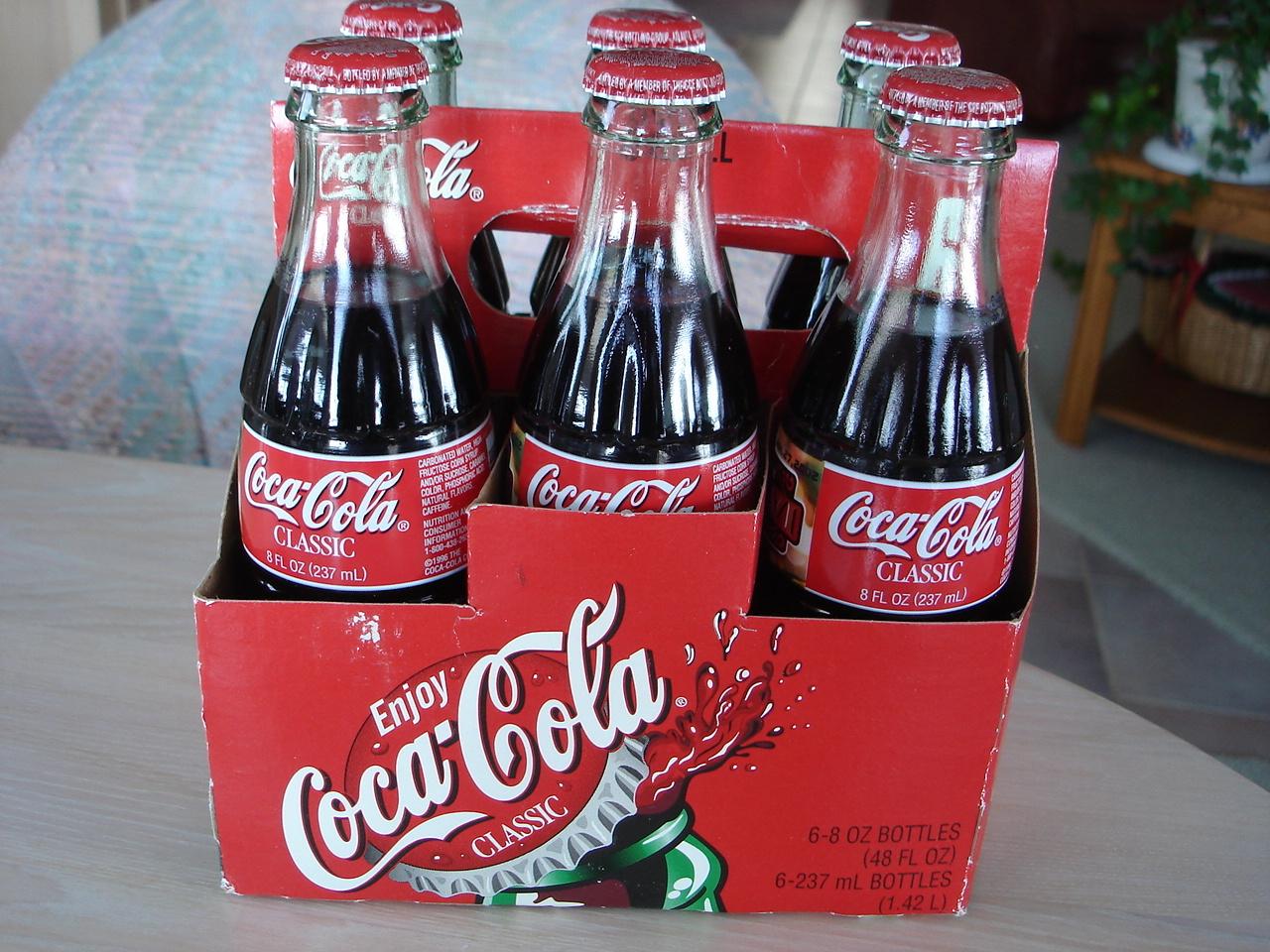 Coca Cola Memorabilia 6pk Glass Bottles, 2002 Superbowl 36, Full 8 oz, W Sleeve