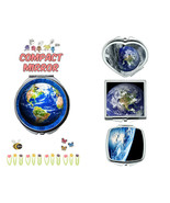 Earth makeup mirror compact mirror purse mirror travel mirror - $11.99