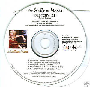 AmberRose Marie (CD Single) Destiny part.2 (5 Remixes)