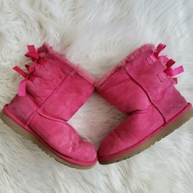 UGG Bailey Bow II Size 5 Pink Short Winter Boots, Ribbon, Womens  - $36.47