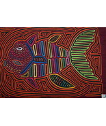 Kuna Abstract Traditional Mola Hand stitched Ap... - $69.29