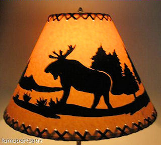 moose rustic lamp shade