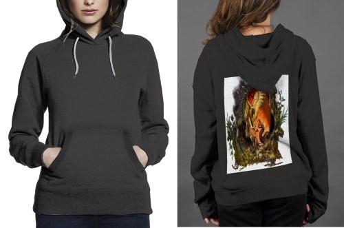 Hawk vs snake clans z hoodie women black