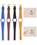 Ladies Watch Strap Band For OMEGA DYNAMIC Leather Replacement Gold Buckle S16 - $18.47 - $22.16